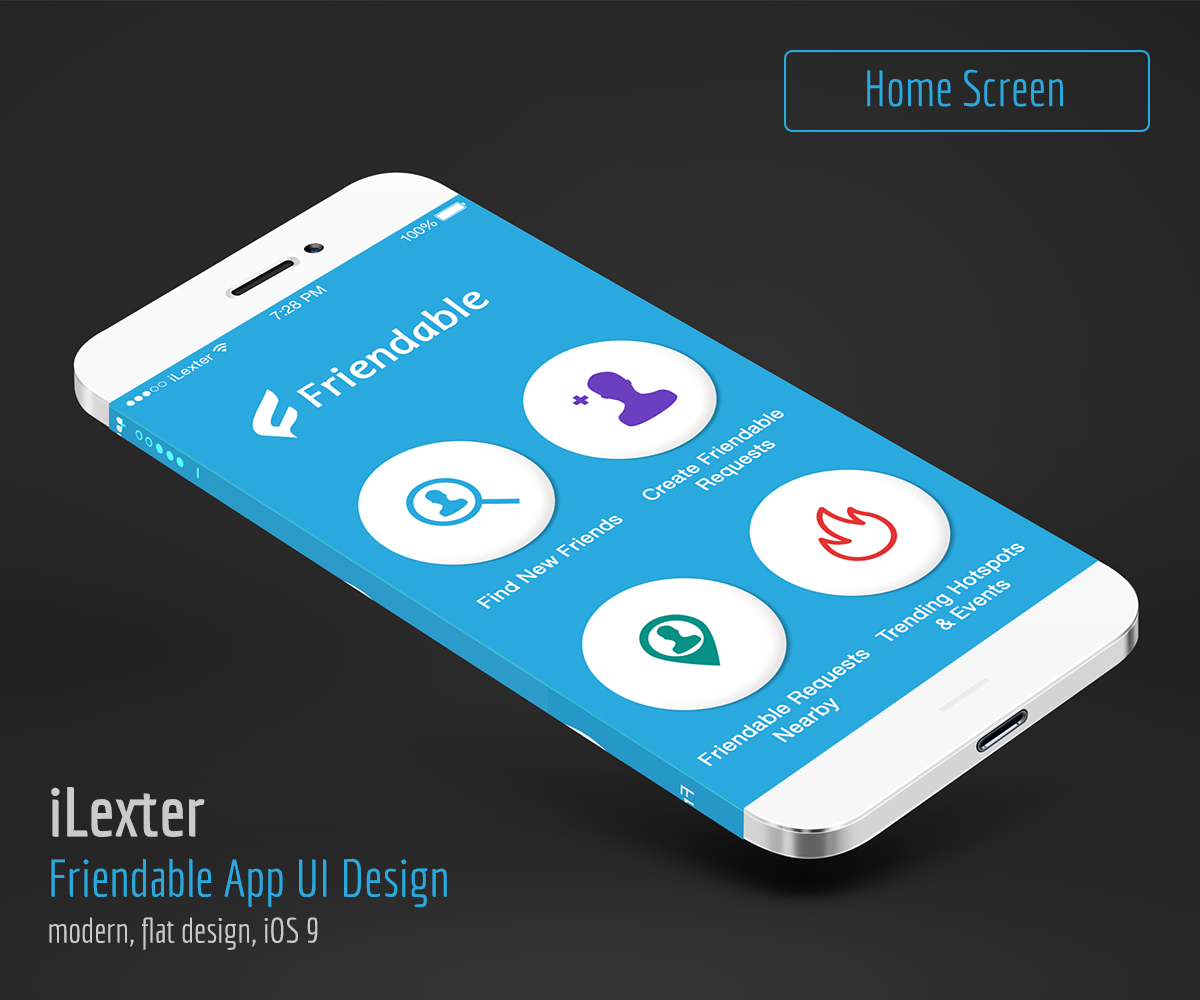 App Design By ILexter For Pixel Perfect IOS9 Style Screens   Design #7229838