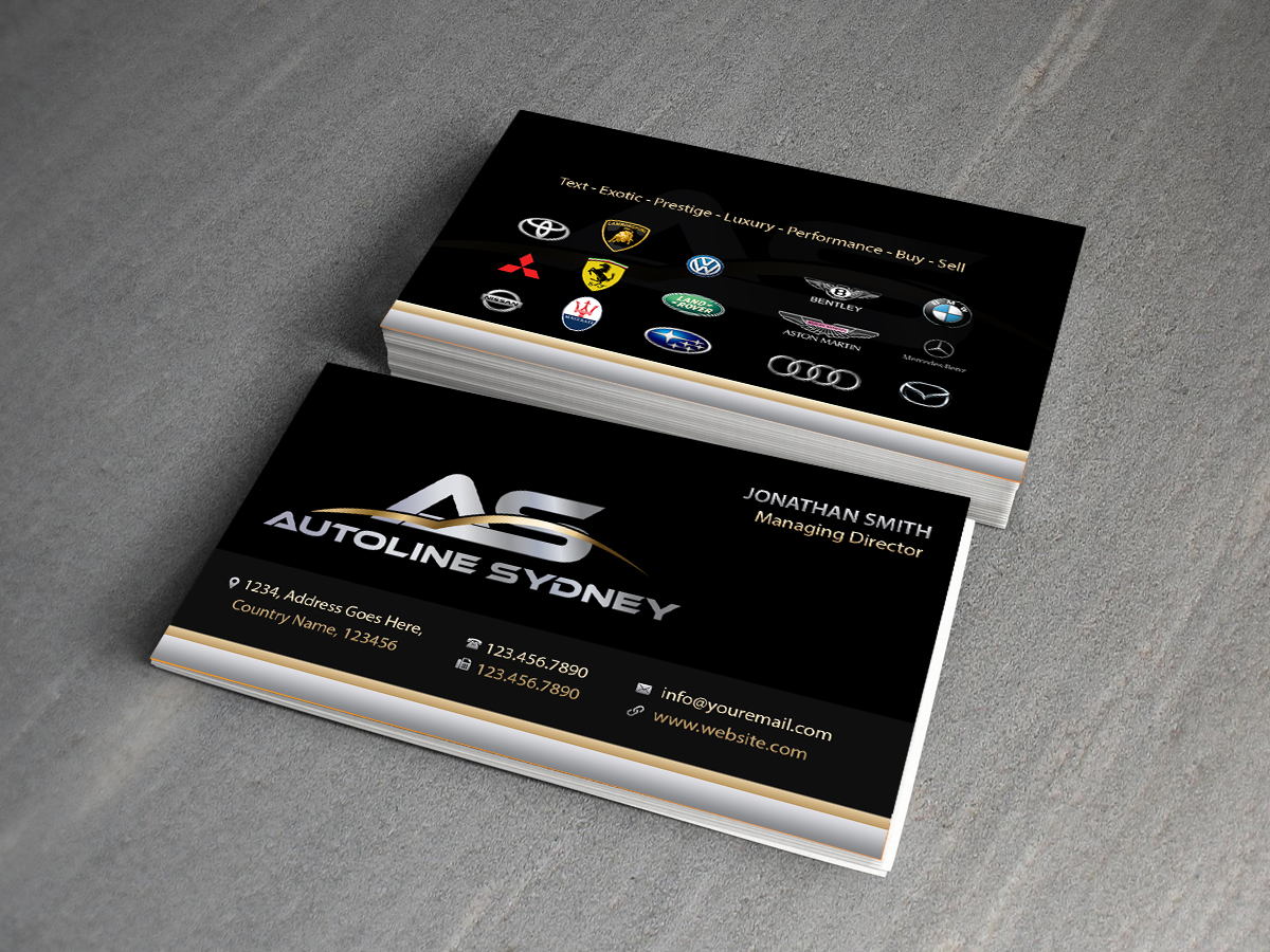 82 professional business card designs automotive business card business card design by creations box 2015 for this project design 7196536 reheart Image collections