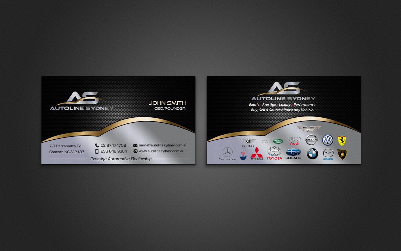 Professional, Upmarket, Automotive Business Card Design for a ...
