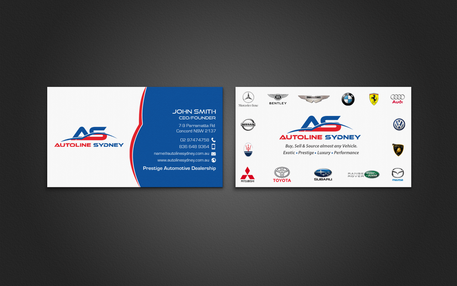 Creative Automotive Business Cards Choice Image - Card Design And ...