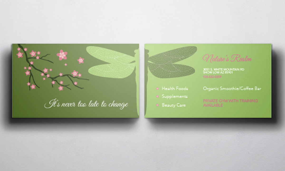 Colorful, Bold, Store Business Card Design for NATURES REALM by Sasa ...
