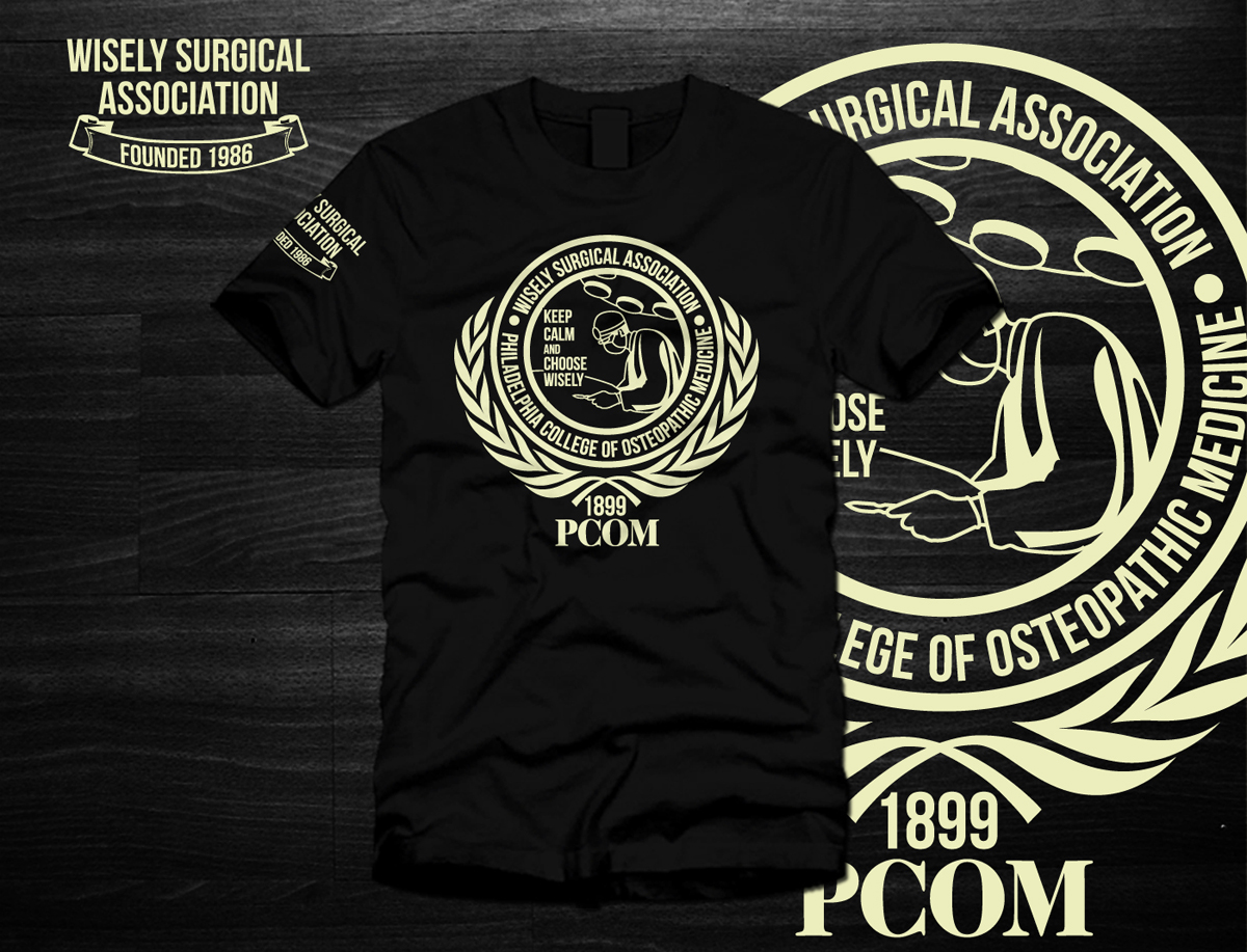 Serious Masculine School T Shirt Design For Wisely Surgical Assc