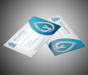 Upmarket elegant business business card design for atlantis pool business card design by mt for atlantis poolspa servicerepair llc design 7360195 colourmoves Choice Image