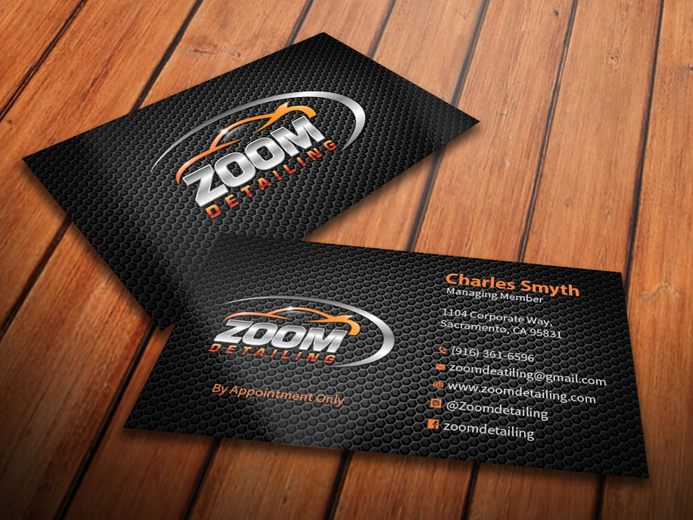 Professional serious business business card design for zoom business card design by mediaproductionart for zoom detailing design 7185049 reheart Gallery