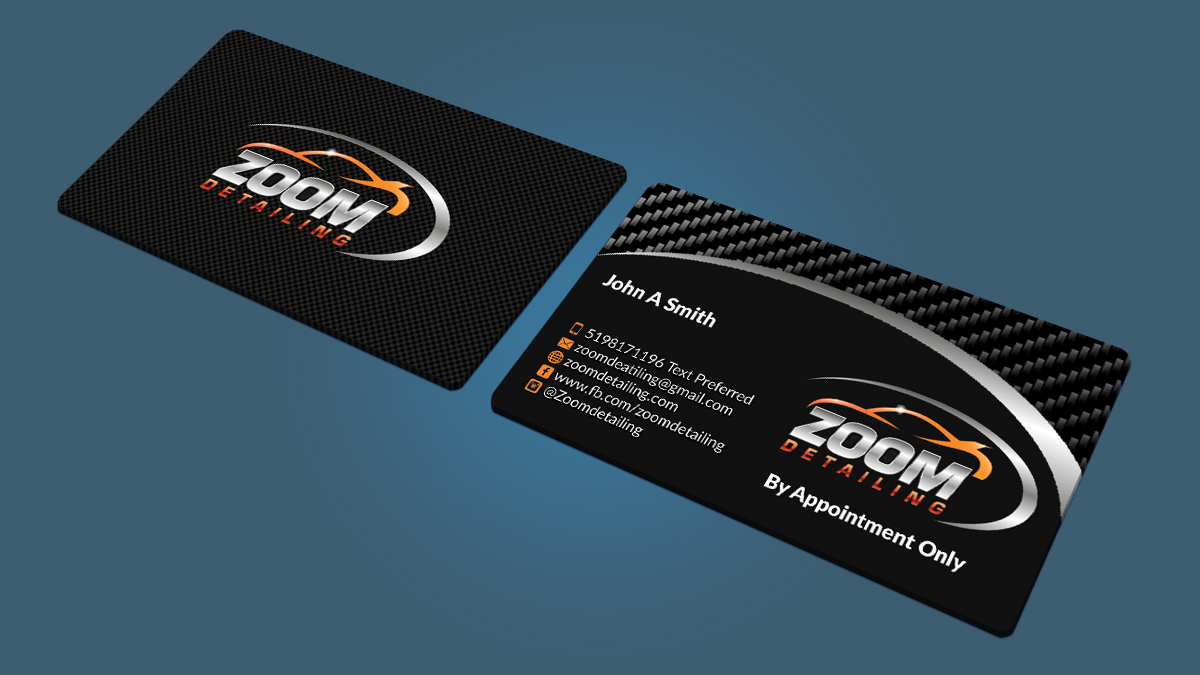 Professional serious business business card design for zoom business card design by nuhanenterprise for zoom detailing design 7203981 reheart Gallery