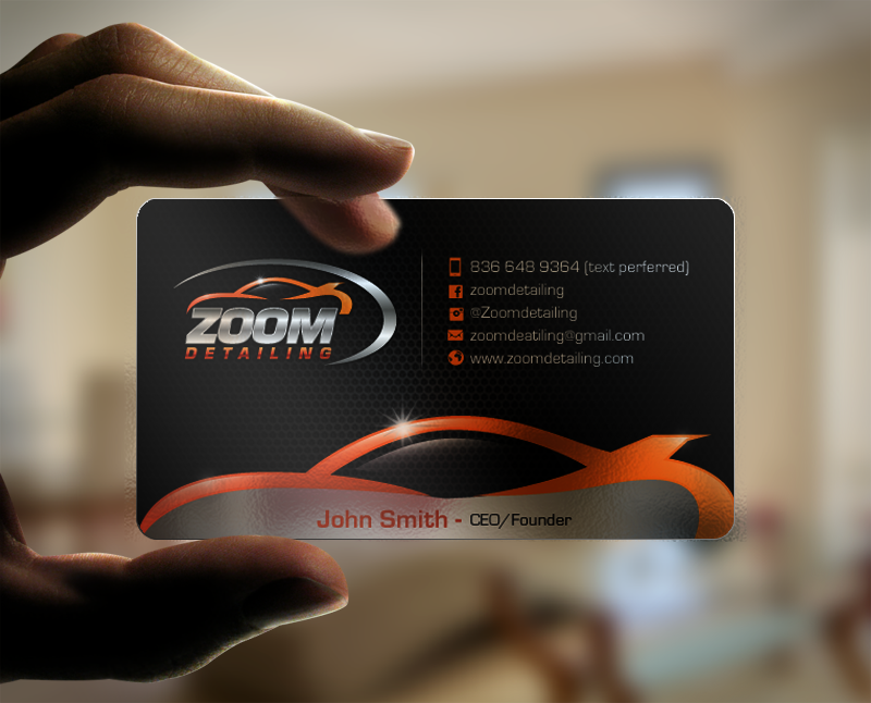Professional, Serious Business Card Design for Zoom Detailing by ...