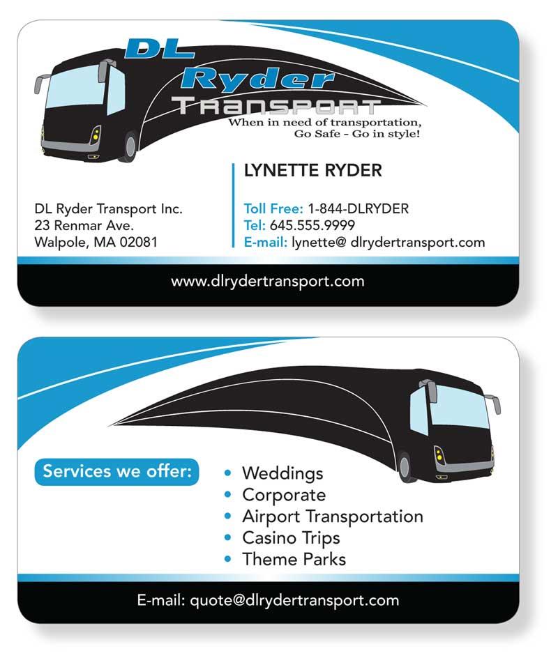 Elegant playful business business card design for dl ryder business card design by patrick tero for dl ryder transport inc design colourmoves