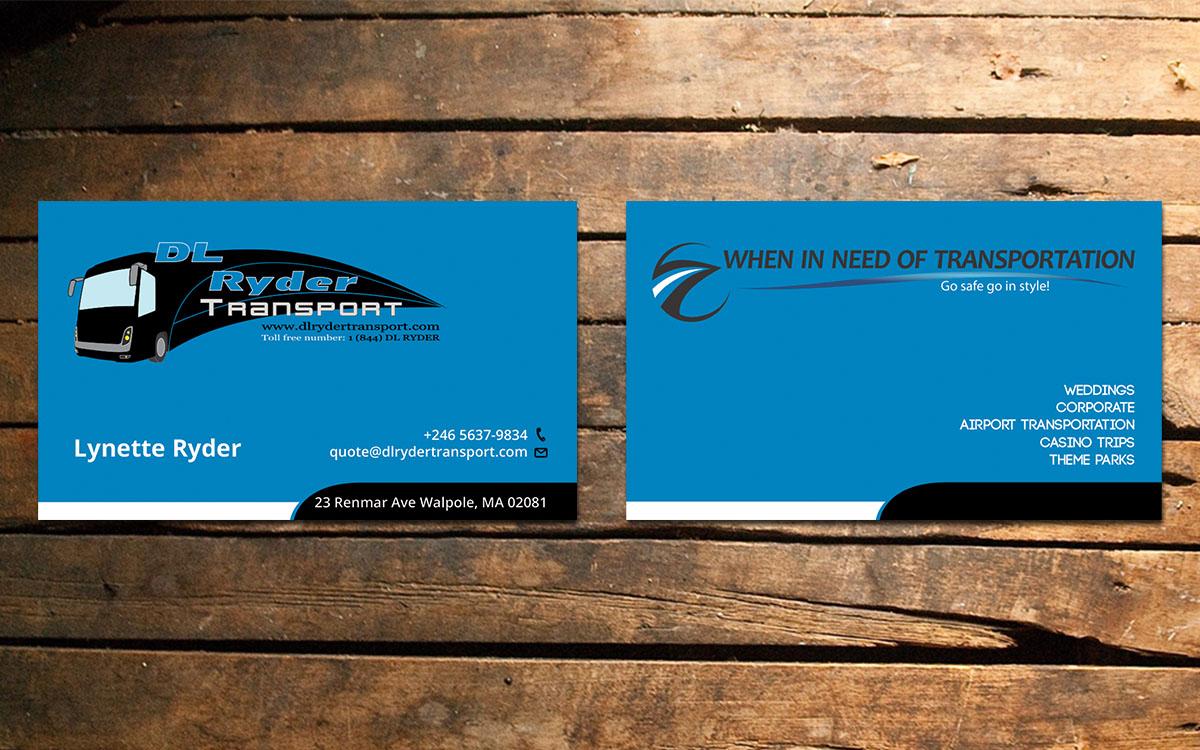 Elegant playful business business card design for dl ryder business card design by design xeneration for dl ryder transport inc design reheart Choice Image