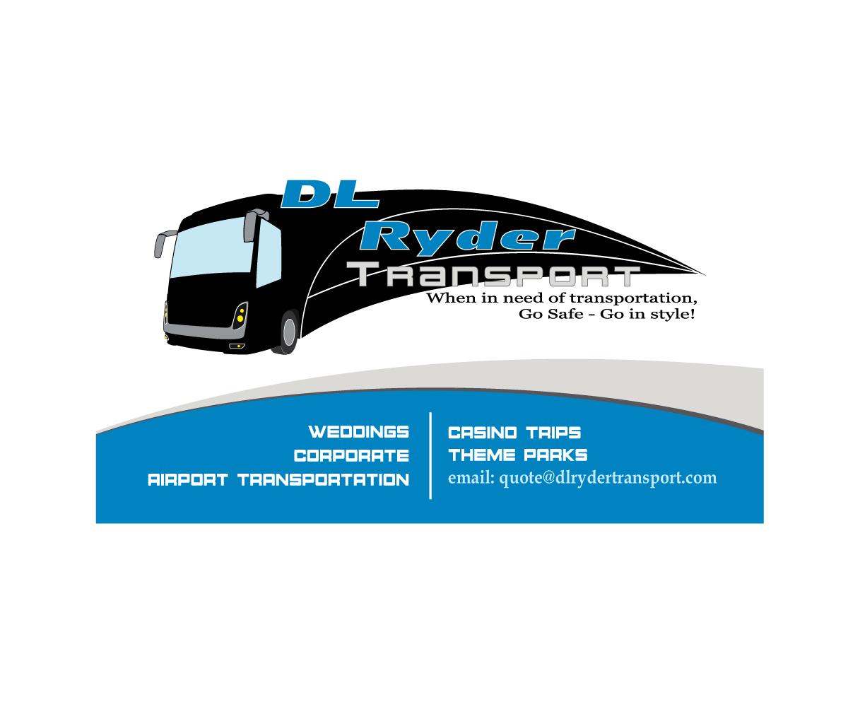 elegant playful business card design for dl ryder transport inc