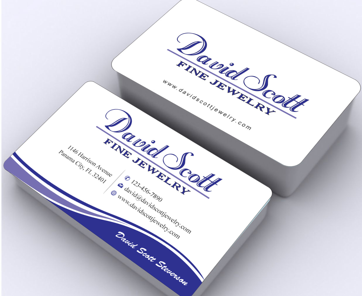 Professional, Serious, Jewelry Business Card Design for David Scott ...
