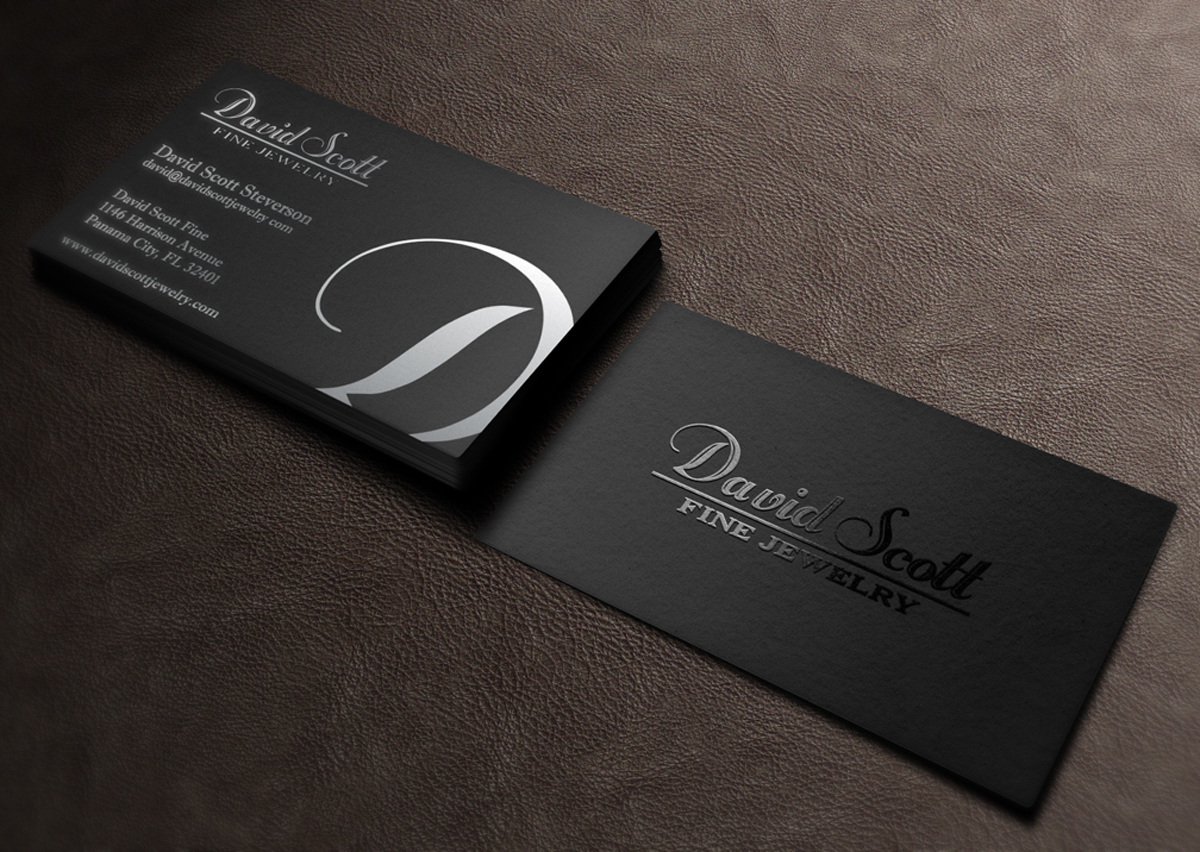 Professional Serious Business Card Design For David Scott