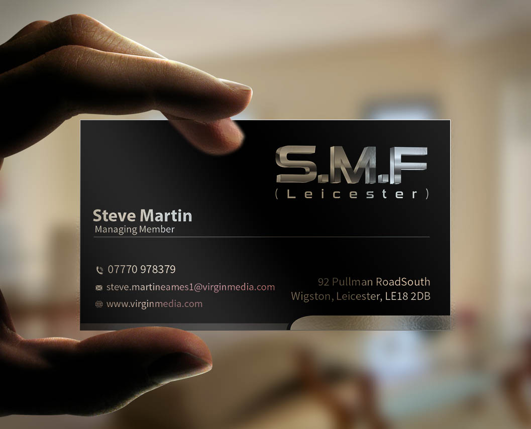 Serious modern business card design for steve martin eames by business card design by mediaproductionart for sme leicester limited business card design design magicingreecefo Choice Image