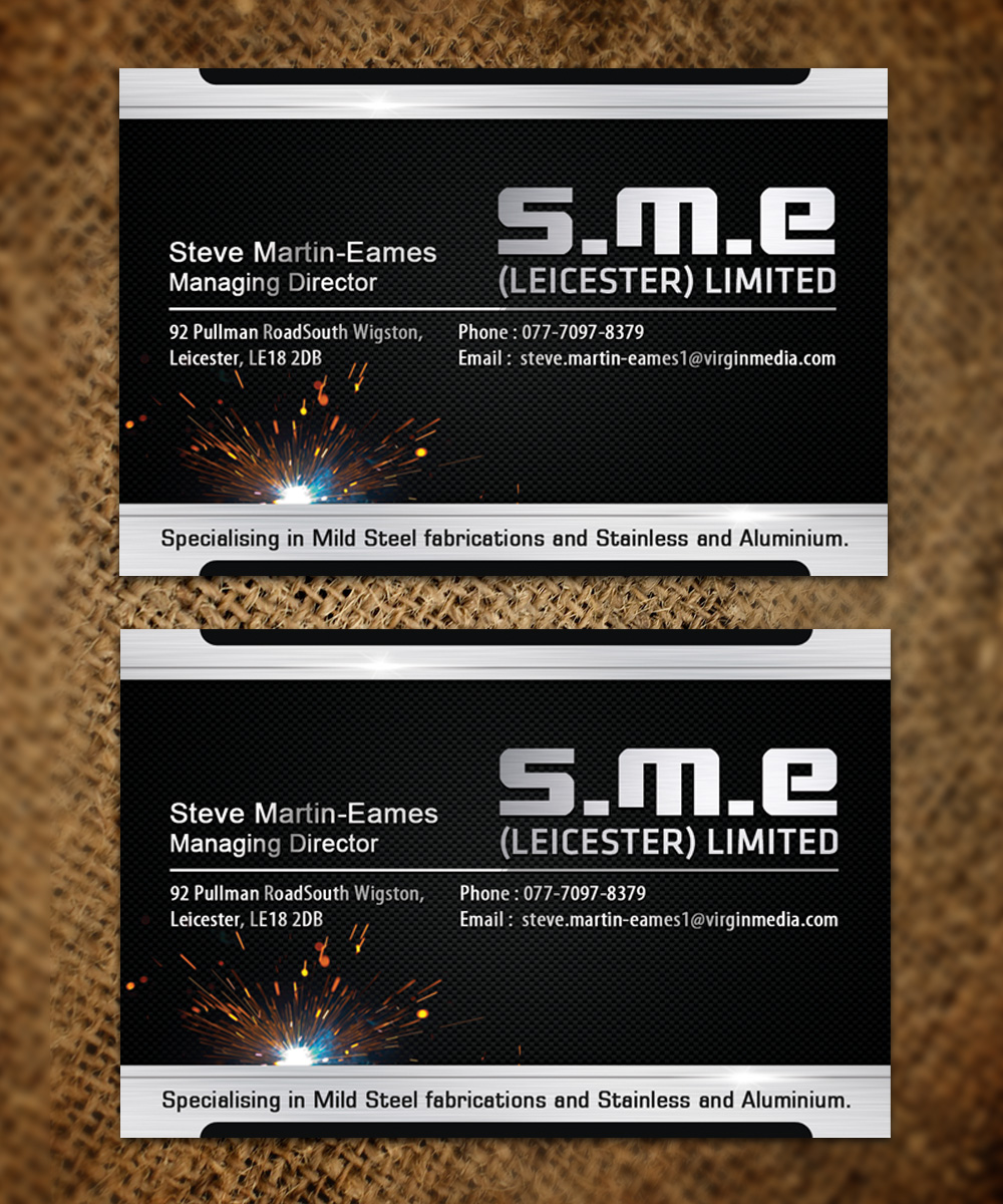 Metallic Fabricator Company Mexico: Serious, Modern, Steel Fabrication Business Card Design