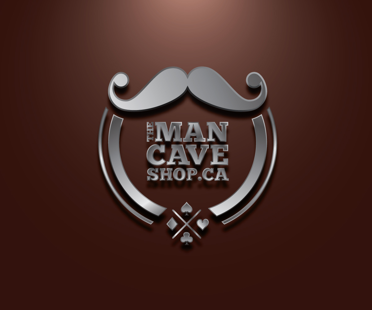 Canada S Man Cave Store Ottawa : Modern masculine logo design for the man cave shop by