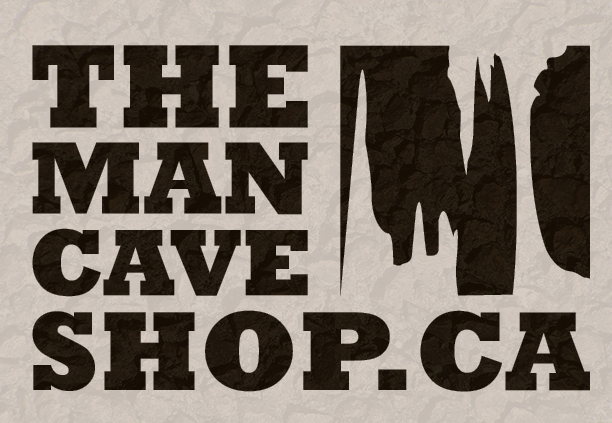 The Man Cave Store Canada : Modern masculine logo design for the man cave shop by