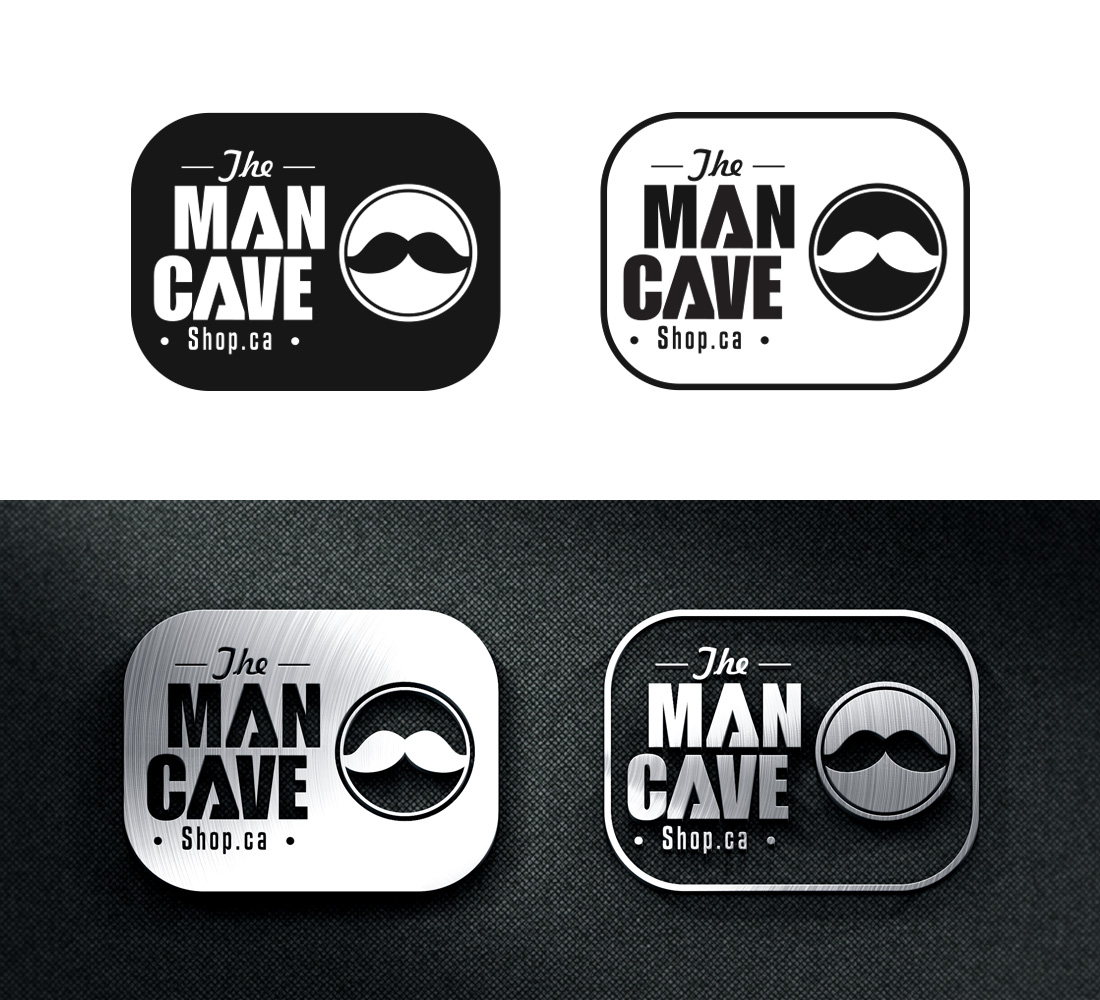 Man Cave For Hire : Modern masculine logo design for the man cave shop by