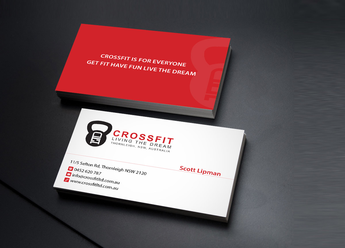 64 playful business card designs fitness business card design business card design by creations box 2015 for this project design 7205925 reheart Images