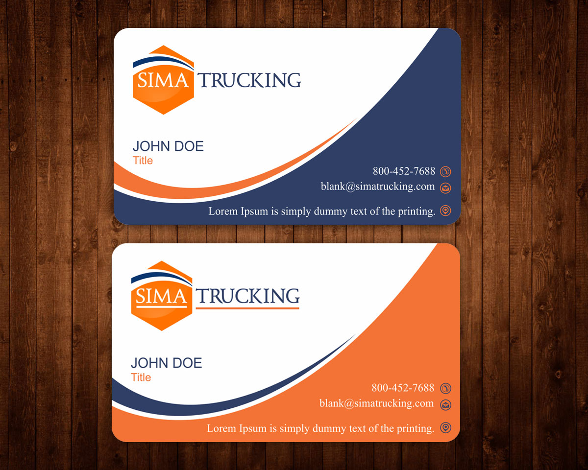 Elegant playful business card design for parminder gill by business card design by madhuraminfotech for business card for national trucking company design 7233693 colourmoves