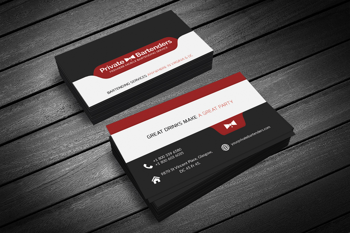 Serious, Modern, Events Business Card Design for a Company ...