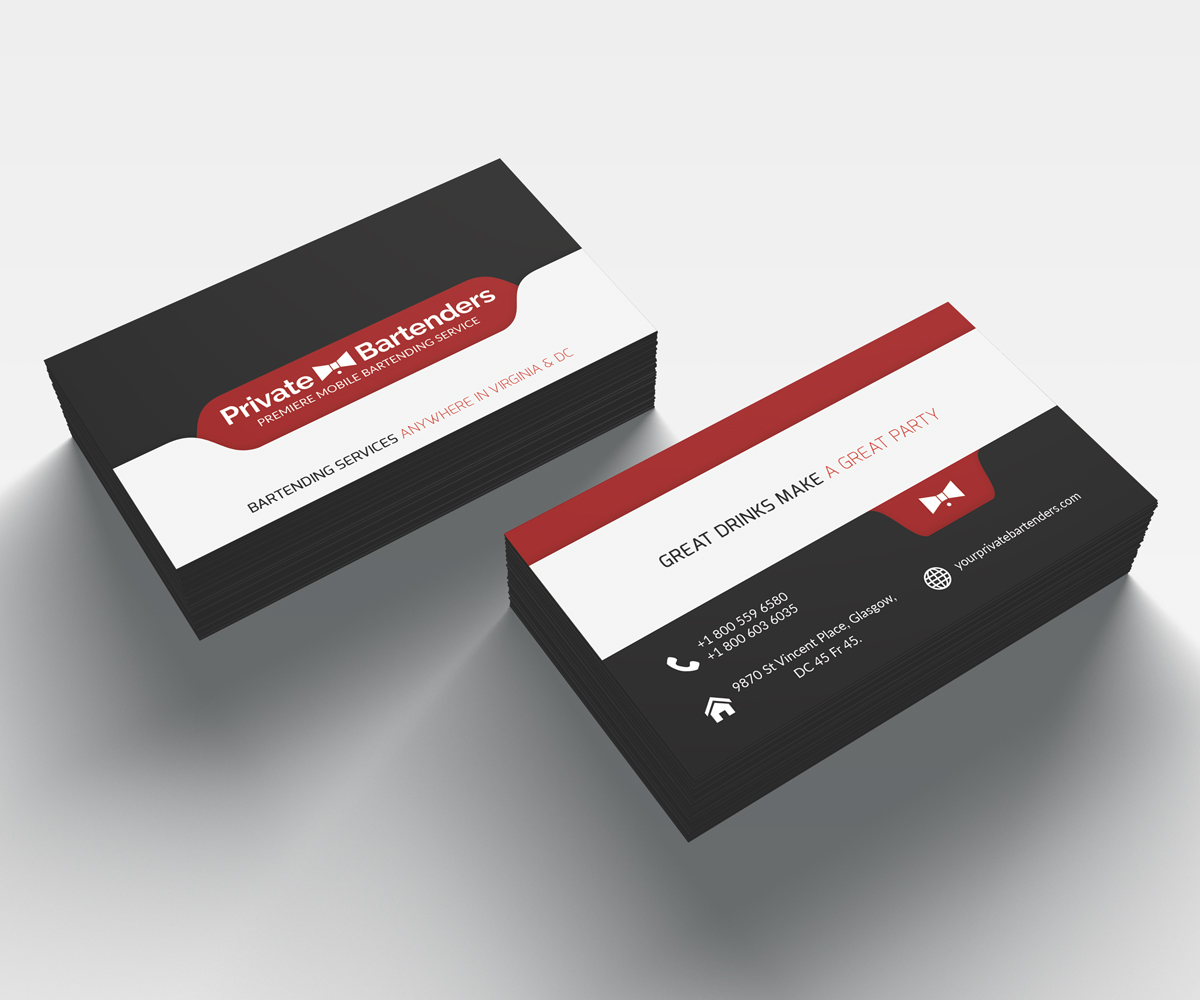 Serious Modern Events Business Card Design For A Company By Idea