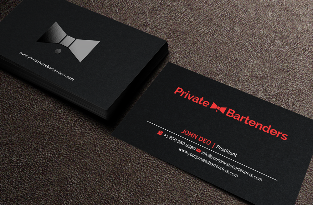 business card design by brand aid for this project design 7234032 - Bartender Business Cards