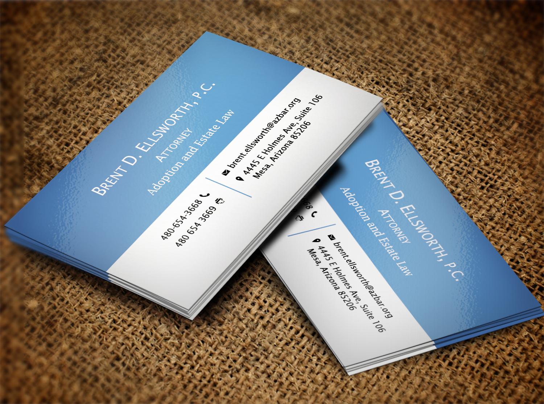 Bold, Modern Business Card Design for Brent Ellsworth by Pawana ...