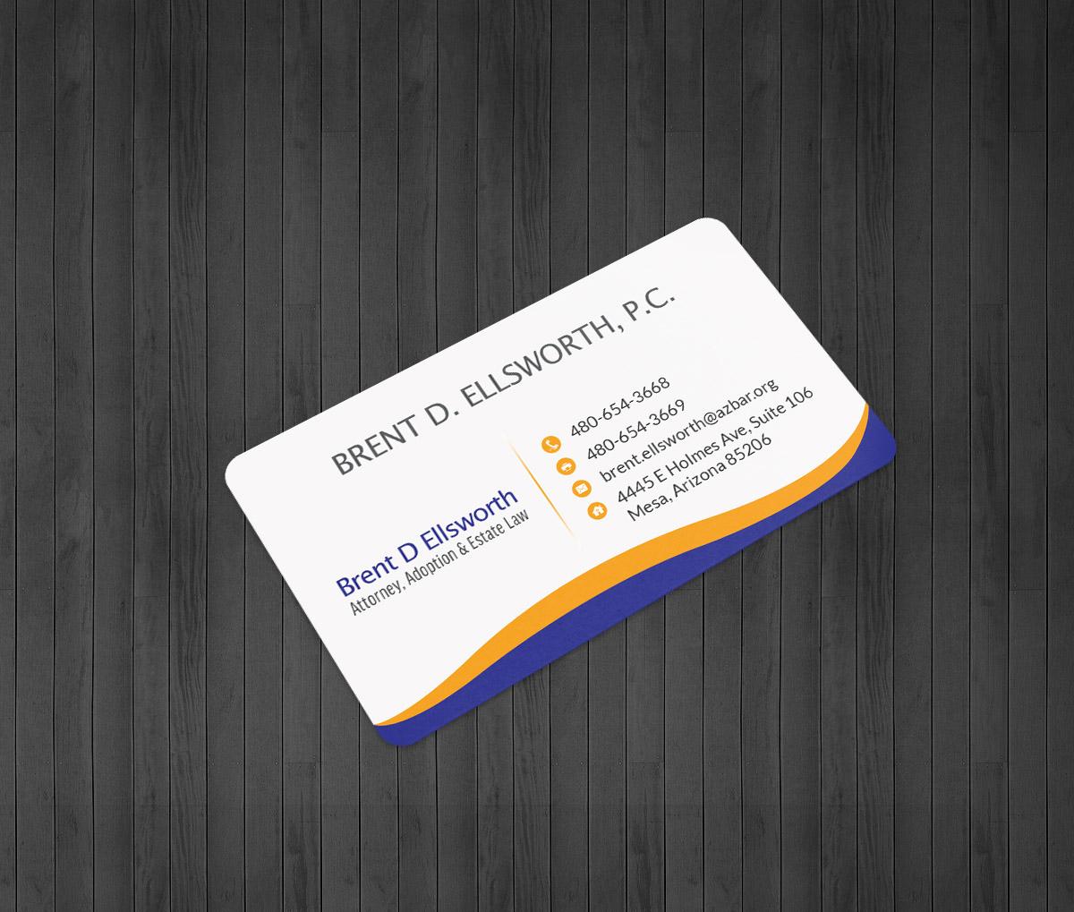 Bold, Modern Business Card Design for Brent Ellsworth by Zoe ...