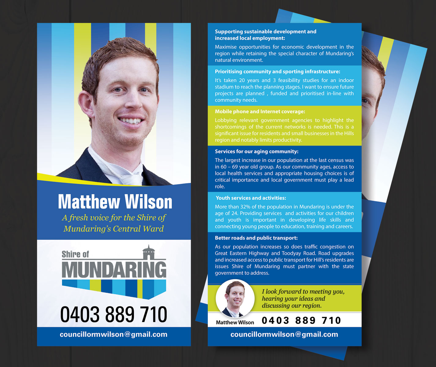 Professional Bold Flyer Design for Matthew Wilson by uk – Election Brochure