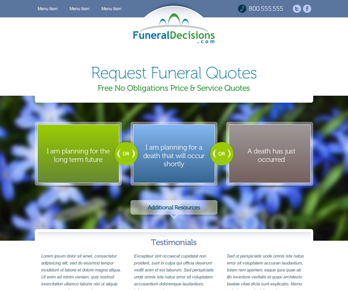 Modern personable web design for michael regina by embrya studio design 1876101 - Funeral home web design ...