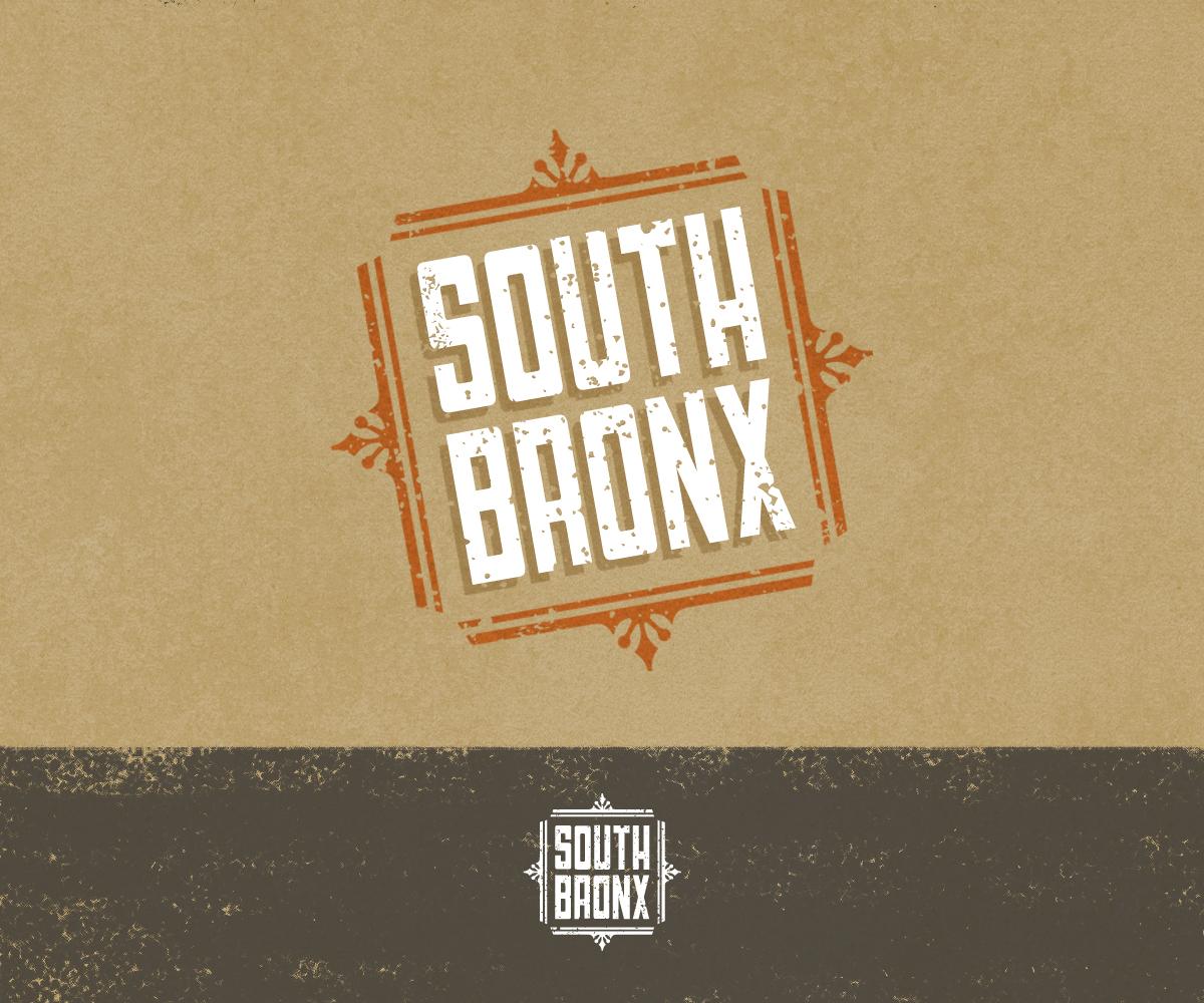 bold playful burger restaurant logo design for south