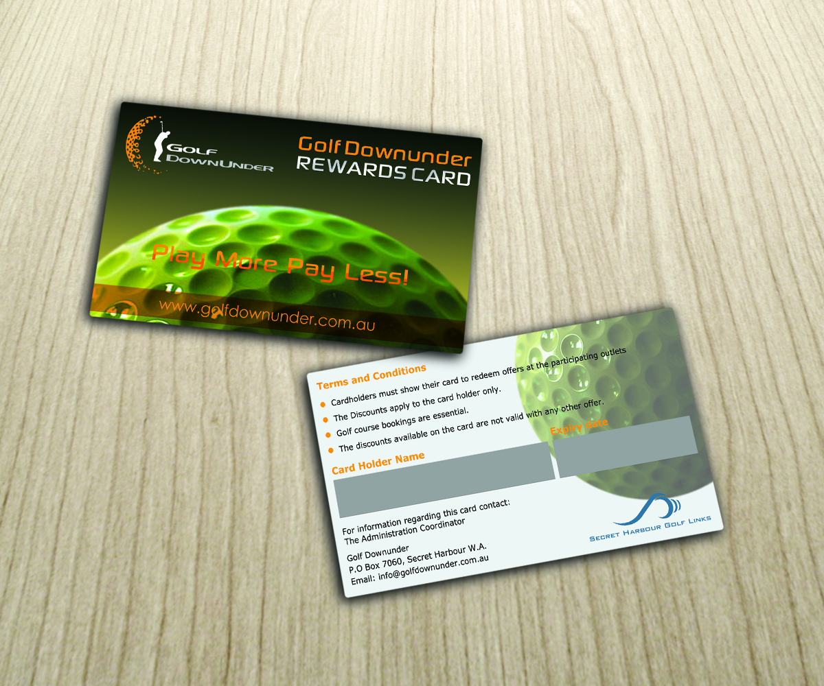 Bold, Modern, Plastic Business Card Design for Golf Dowunder by ...