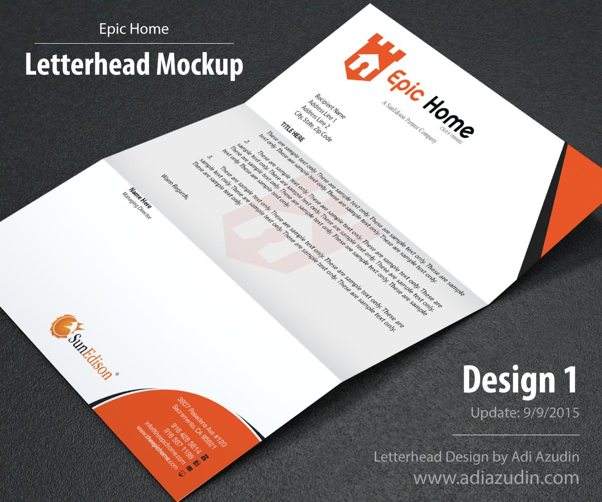 Translation House Corporate Stationery Design: Bold, Masculine, It Company Letterhead Design For Epic