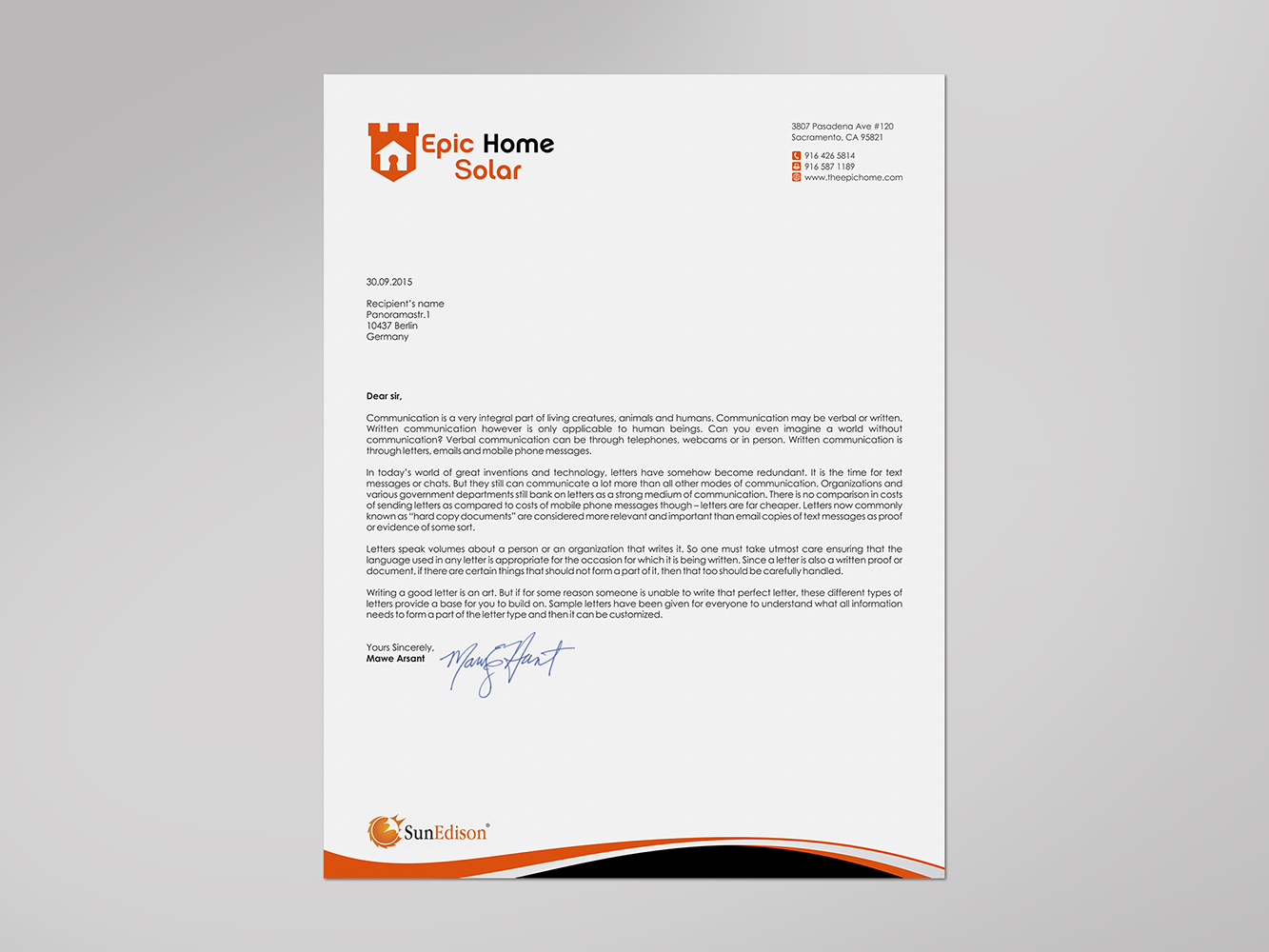 Bold Masculine It Company Letterhead Design For Epic Home Inc By