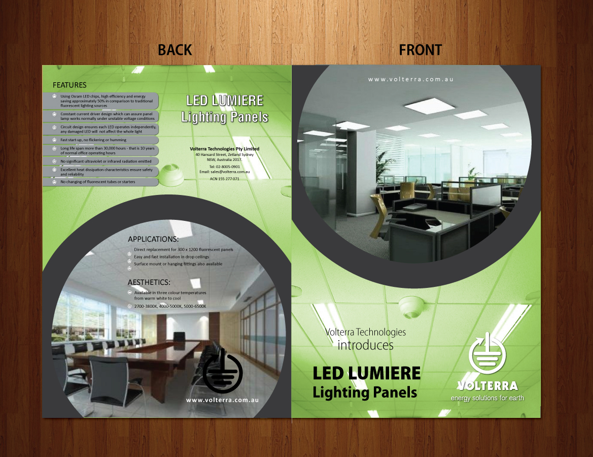 Elegant Modern Product Brochure Design For Fergusonsbiz Pty Led Light Circuit By Sbss Limited 1847323