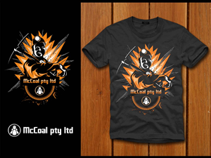 T-shirt Design job – McCoal pty ltd – Winning design by denuj