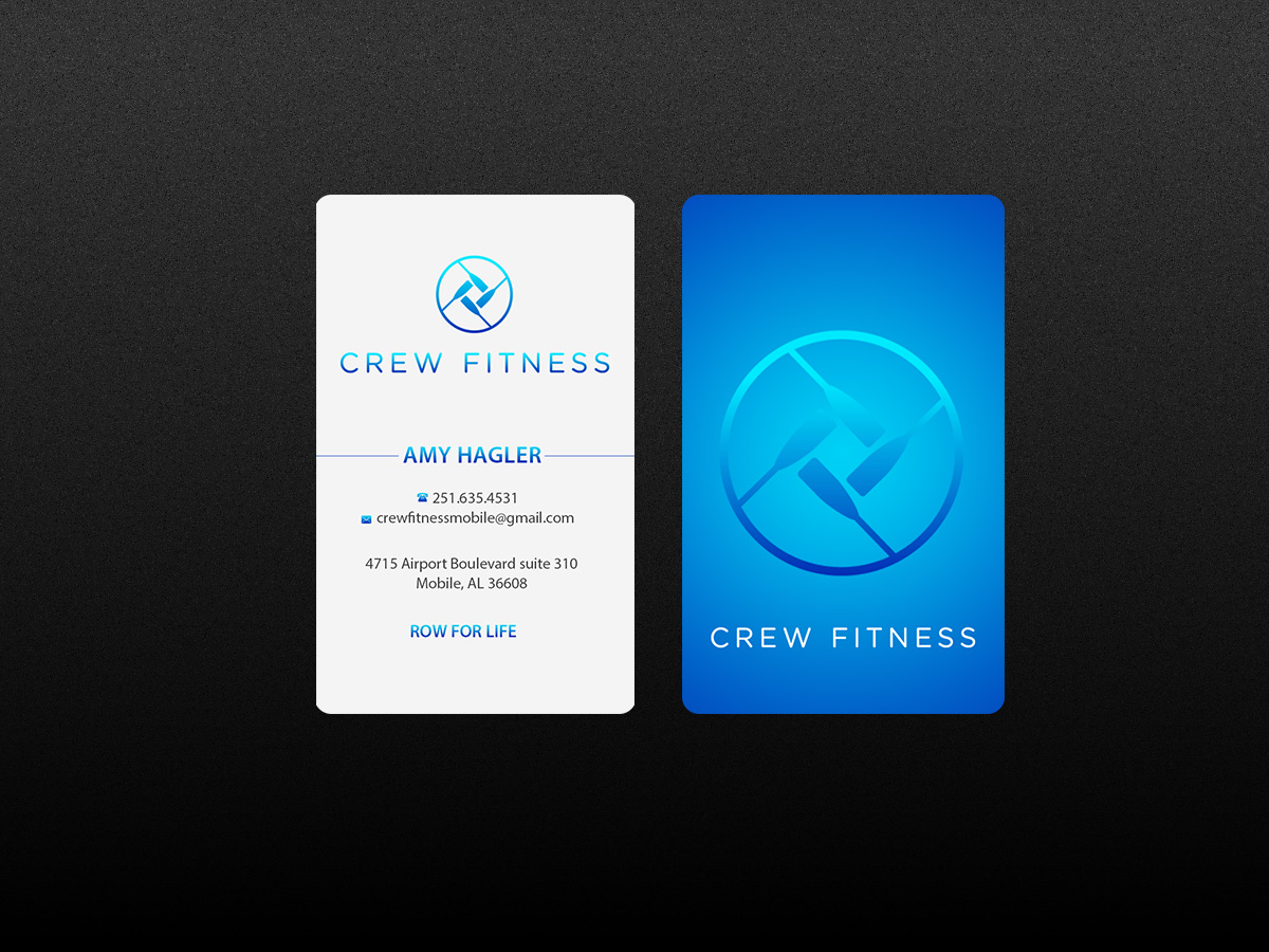 Modern bold fitness business card design for a company by business card design by creations box 2015 for this project design 7259385 reheart Images