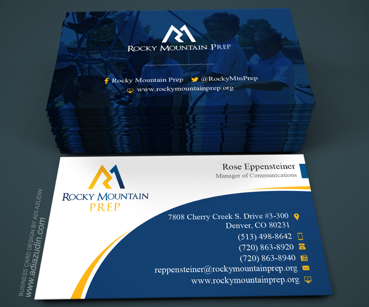 Modern bold education business card design for rocky mountain prep business card design by adiazudin for rocky mountain prep design 7249786 colourmoves
