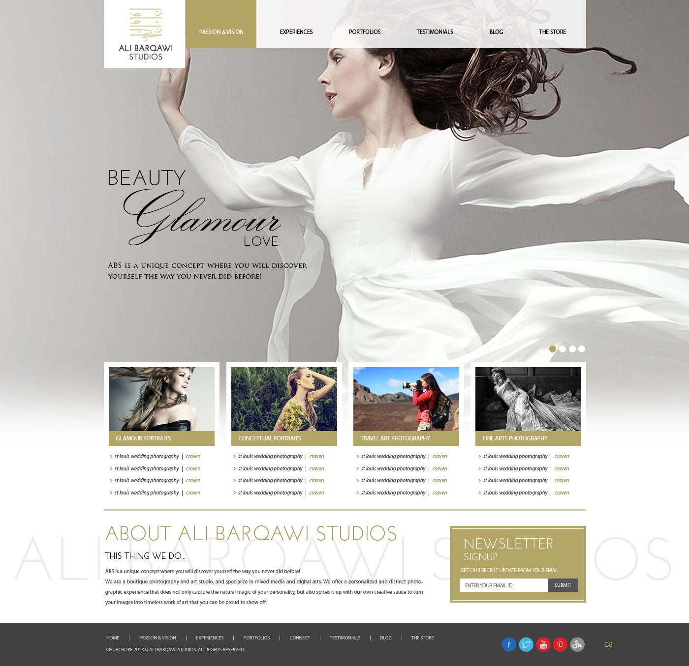 Upmarket Modern Portrait Photography Wordpress Design For Ali Barqawi Studios By Pb Design 1845933
