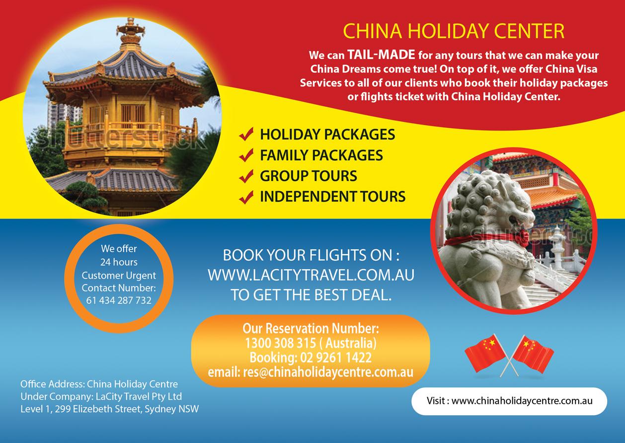 Elegant Playful Travel Flyer Design For LaCity Australia In