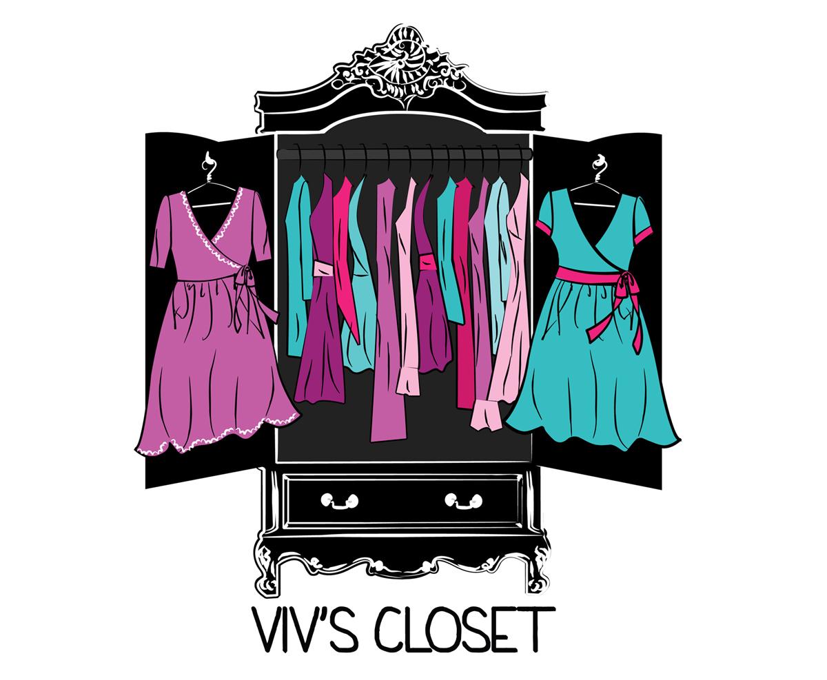Vivs's fashion label Logo by Kristen Anderson