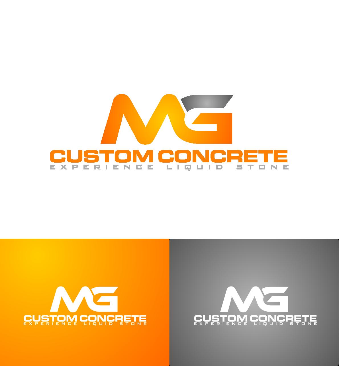 serious modern construction company logo design for mg