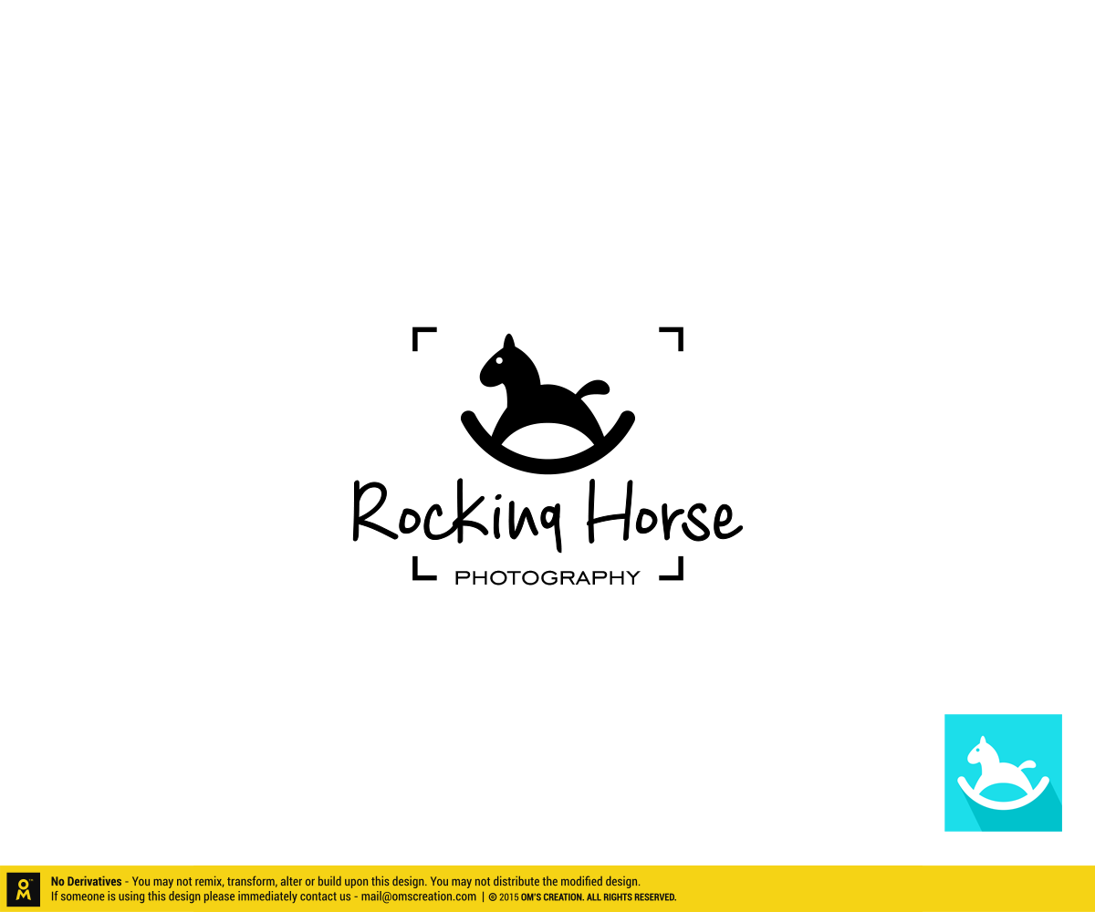 Modern Playful Graphic Designer Logo Design For Rocking Horse Photography By Omee Design 7315506