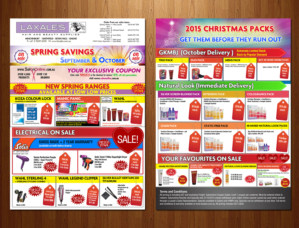 Feminine Colorful Flyer Design for Laxales Hair and Beauty – Sale Flyer Design