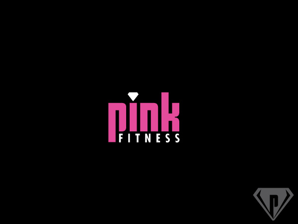 Pink Fitness Logo Design by Alien Cookie