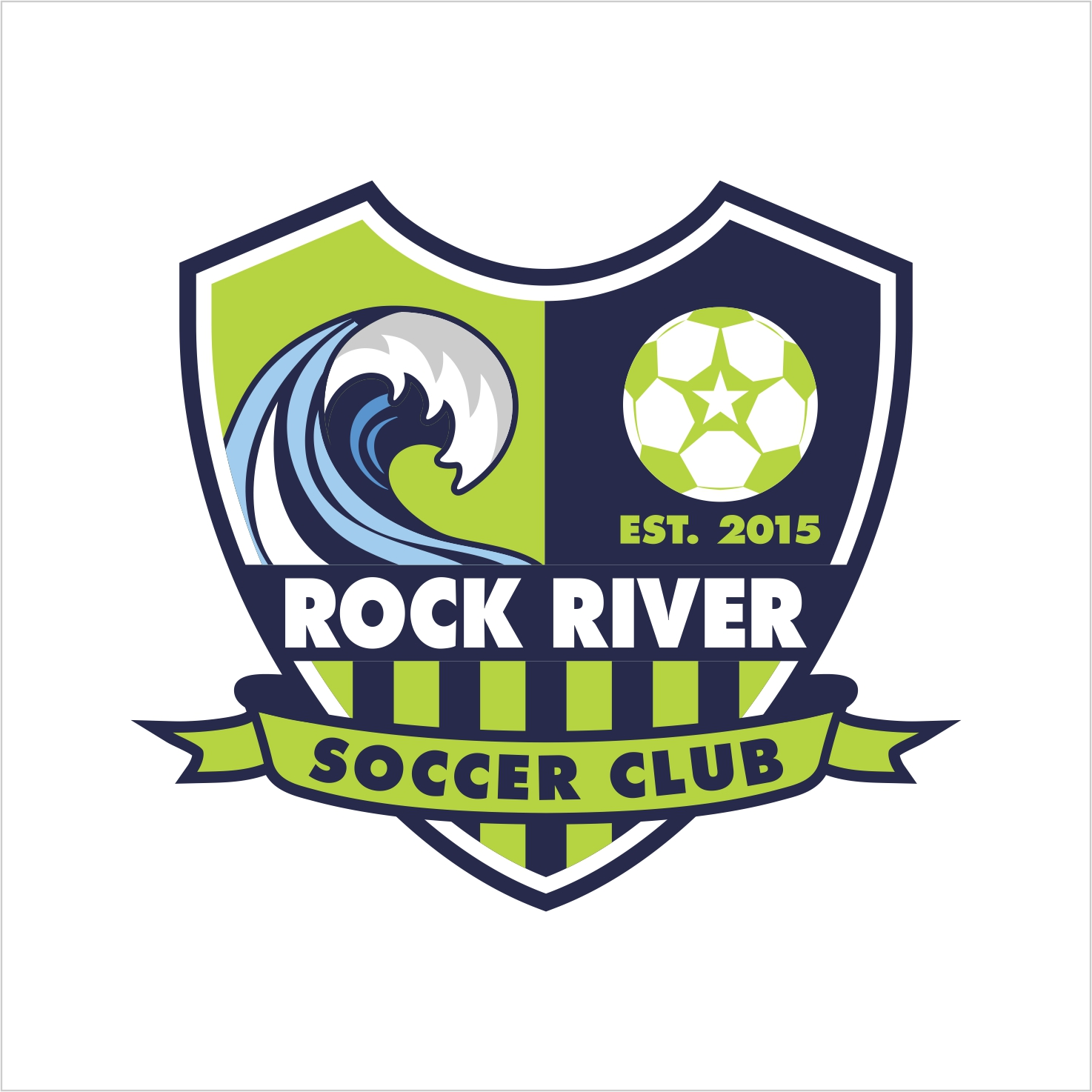 bold playful sporting good logo design for rock river
