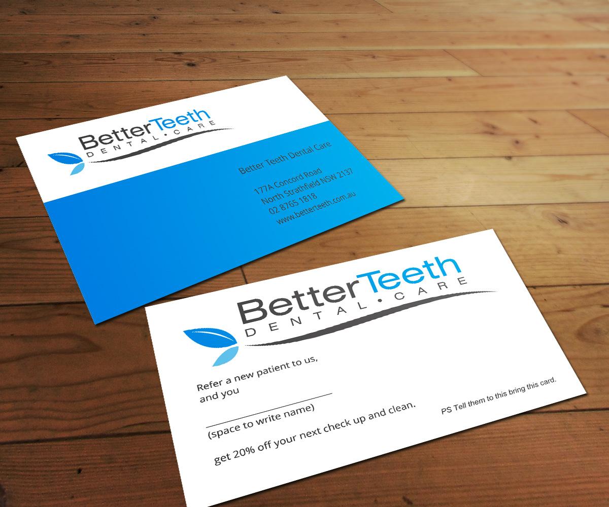 Playful, Elegant Business Card Design for Better Teeth Dental Care