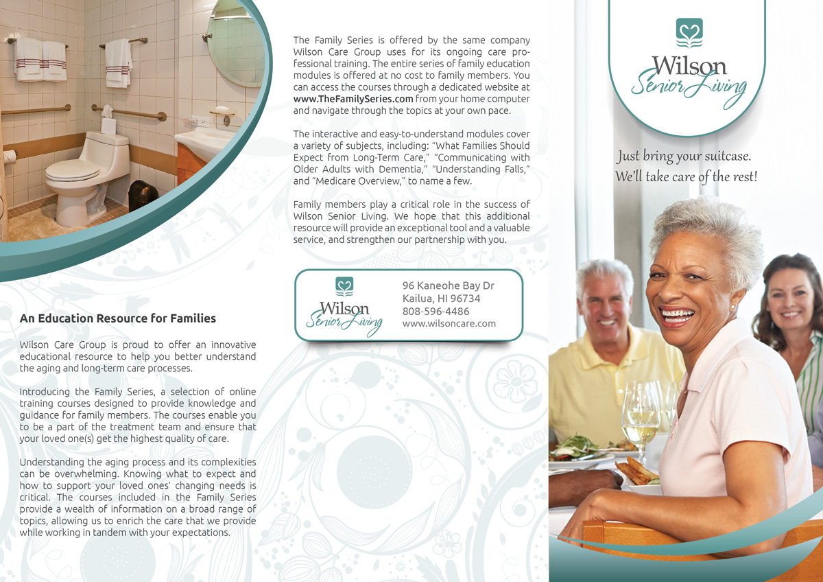 Serious Upmarket Business Brochure Design For Wilson Care Group By