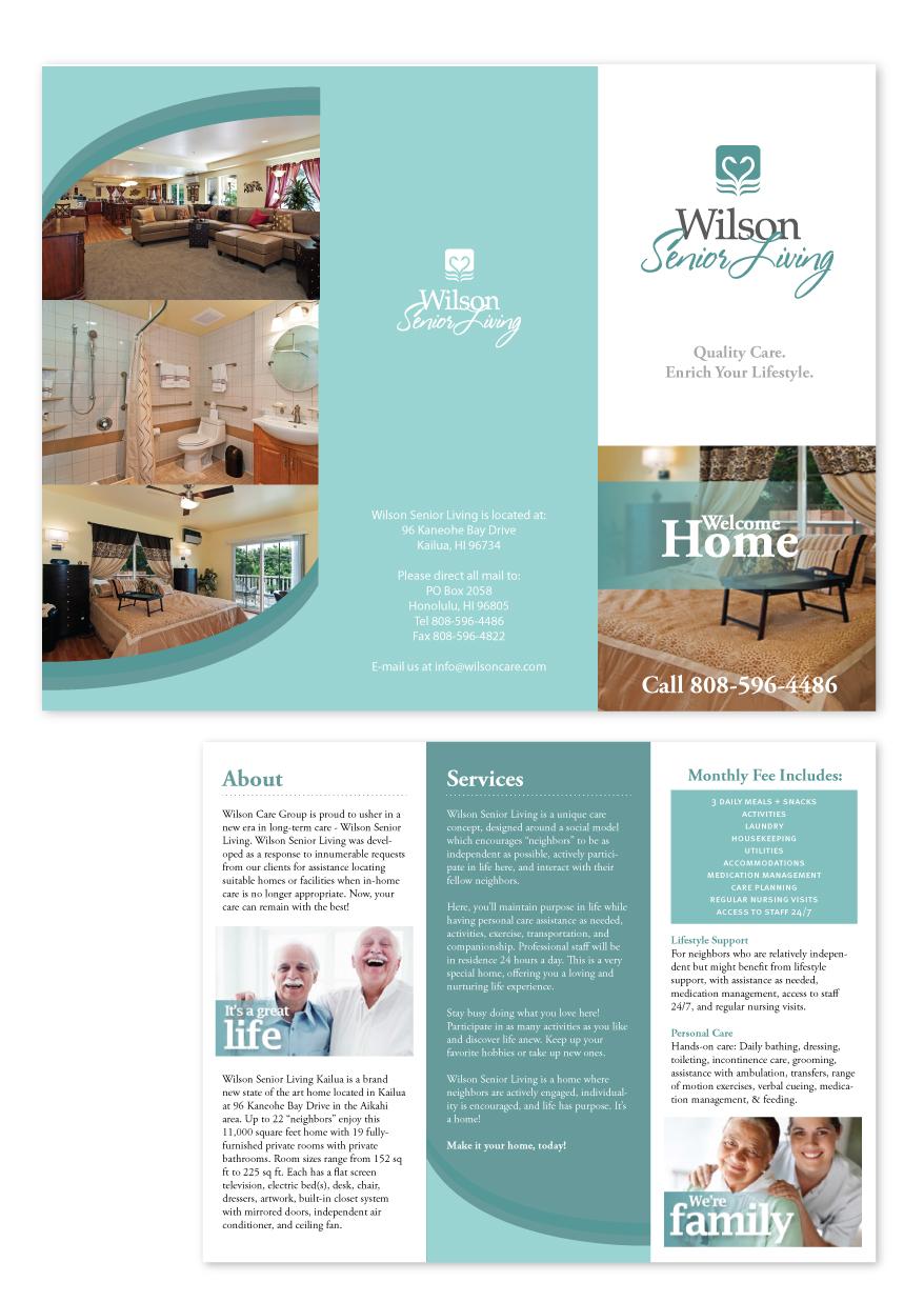 Serious Upmarket Business Brochure Design For Wilson Care