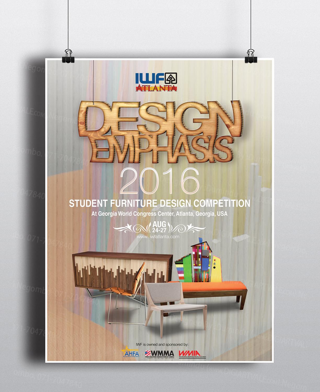 Poster Design by Digiartvale for International Woodworking Fair   Student Furniture  Design Competition Poster   Design. Modern  Bold Poster Design for Liz Hosp by Digiartvale   Design