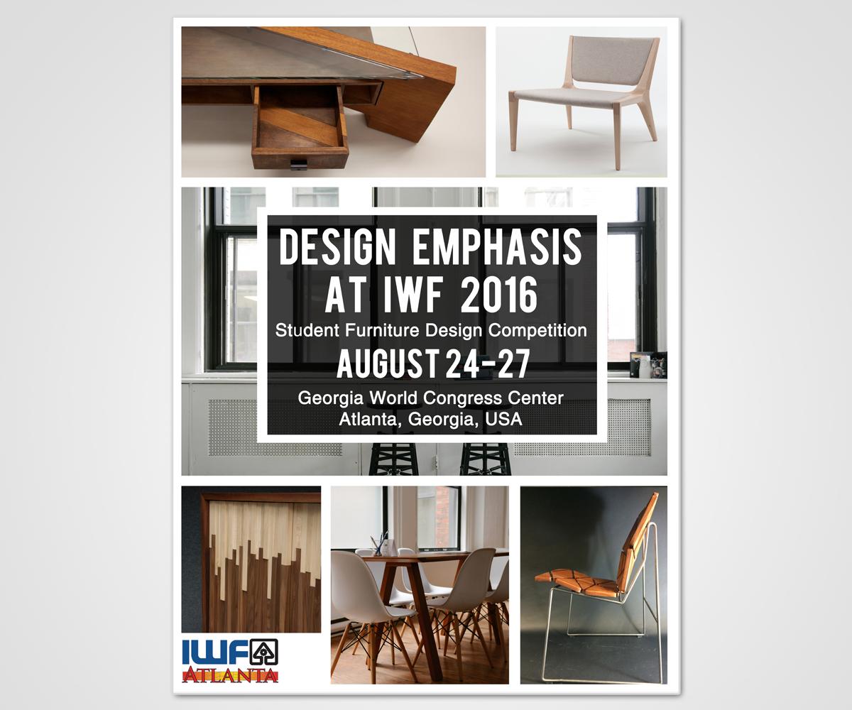 Poster Design by Javi Olalla for International Woodworking Fair   Student Furniture  Design Competition Poster. Modern  Bold Poster Design for Liz Hosp by Javi Olalla   Design